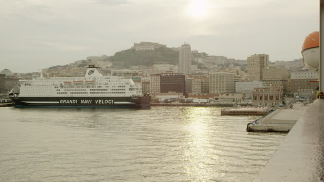 a ship in the port of naples - harbour stock videos & royalty-free footage