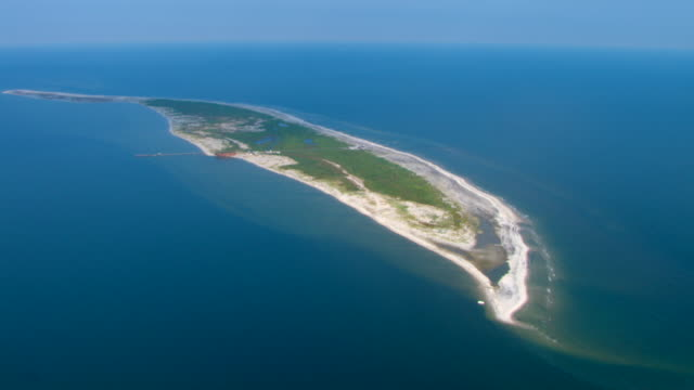 ship island curves along the gulf islands national seashore. - military base stock videos & royalty-free footage