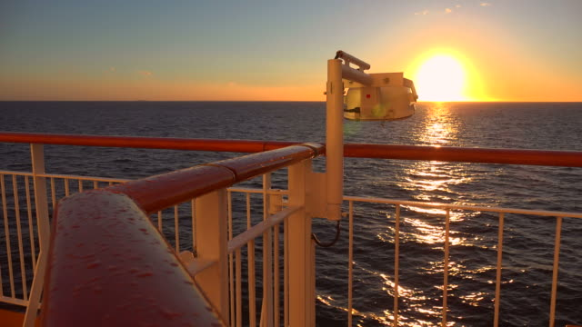 ship on baltic sea in evening light - boat point of view stock videos & royalty-free footage