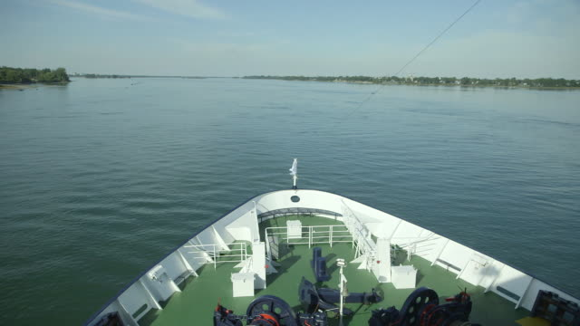 POV of ship on St. Lawrence River