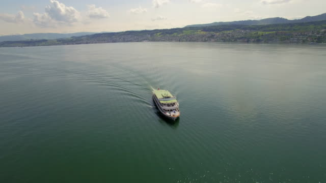Ship on the Lake of Zurich