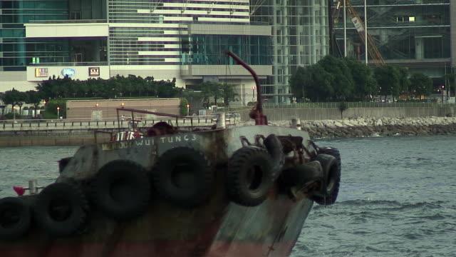 stockvideo's en b-roll-footage met ms ship passing buoy, hong kong, china - hong kong