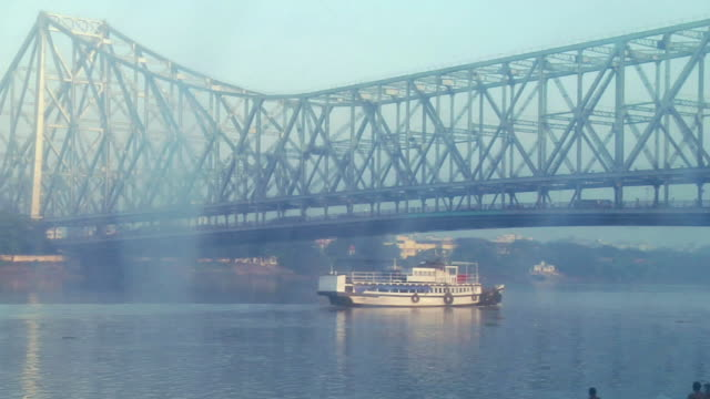 ms ship passing through hooghly river / kolkata, west bengal, india - hooghly river stock videos & royalty-free footage
