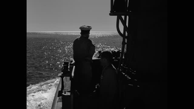 ship point of view of sailors on conning tower of us navy submarine sailing in sea - looking away stock videos & royalty-free footage