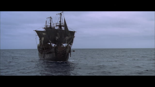 aerial ship sailing on water - sailing ship stock videos & royalty-free footage