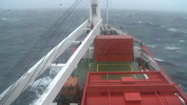 a ship travels through the churning southern ocean. available in hd. - rough stock videos & royalty-free footage