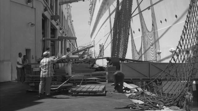 MS Ship unloading on dock at honolulu hawaii