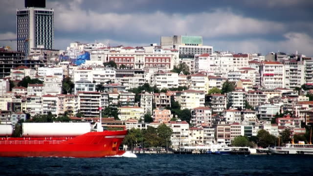 ship - bosphorus stock videos and b-roll footage