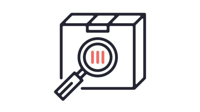 shipment management line icon animation with alpha - solutions stock videos & royalty-free footage