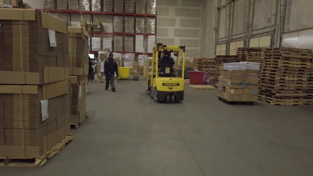 shipment of medical supplies in demand after covid19 virus outbreak, at dealmed warehouse in lakewood, new jersey, u.s., on wednesday, mar 11, 2020. - medical supplies stock videos & royalty-free footage
