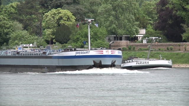 Shipping at the river Rhine