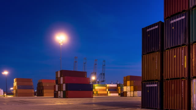 Shipping Containers in Intermodal Yard