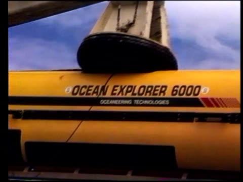 """derbyshire"""" sinking: sonar pictures released; east china sea: on board japanese survey ship 'shin kai maru' ext 'ocean explorer 6000' sonar equipment... - ta ner bildbanksvideor och videomaterial från bakom kulisserna"""