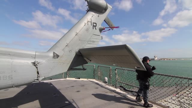 nato ships assigned to standing nato maritime group two arrived in the black sea town to operate and train with ships from the bulgarian romanian and... - 2004 stock-videos und b-roll-filmmaterial