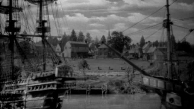 ships occupy a harbor in salem, massachusetts in the early 1600s. - 1936 stock videos & royalty-free footage