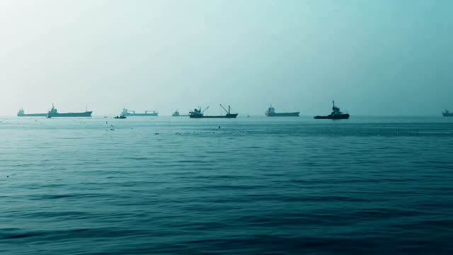 Ships on horizon