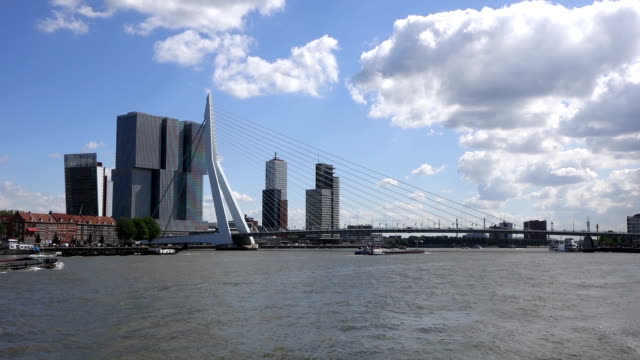 ships sailing in rotterdam port - rotterdam stock videos and b-roll footage