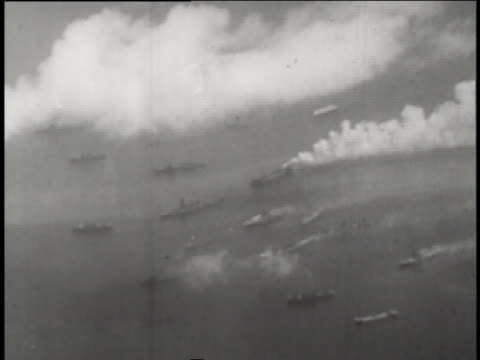 ships sink during the able day and baker day nuclear warfare testing of operation crossroads. - bikini stock videos & royalty-free footage
