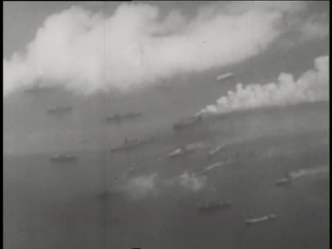 ships sink during the able day and baker day nuclear warfare testing of operation crossroads. - film stock videos & royalty-free footage
