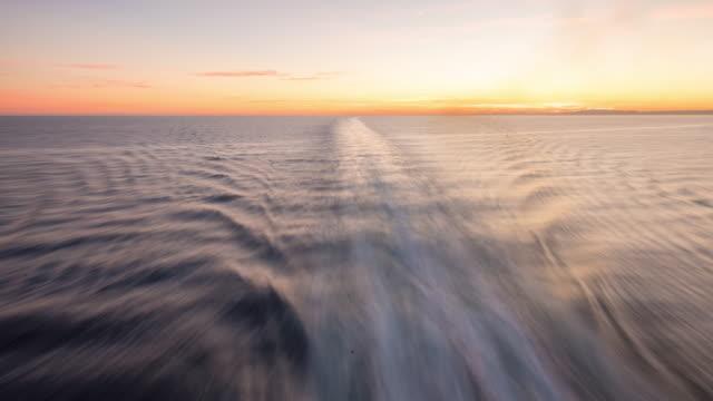 T/L Ship's wake at sunrise