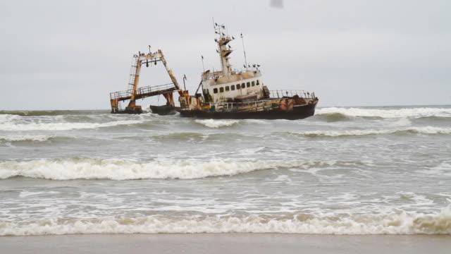 Shipwreck On Namibian Coast
