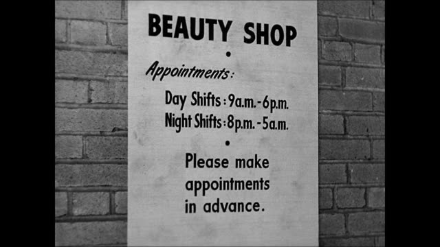 vidéos et rushes de shipyard beauty shop int women having hair amp nails done woman getting manicure woman under hairdryer hairdresser brushing woman's hair ext ws saks... - manucure