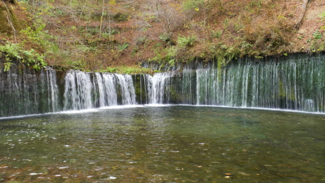 shiraito fall, karuizawa, japan - nagano prefecture stock videos and b-roll footage