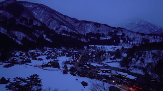 shirakawago gassho-dukuri heritage village, gifu, japan - town stock videos & royalty-free footage