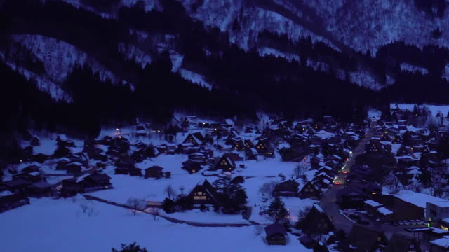 shirakawago gassho-dukuri heritage village, gifu, japan - tradition stock videos & royalty-free footage