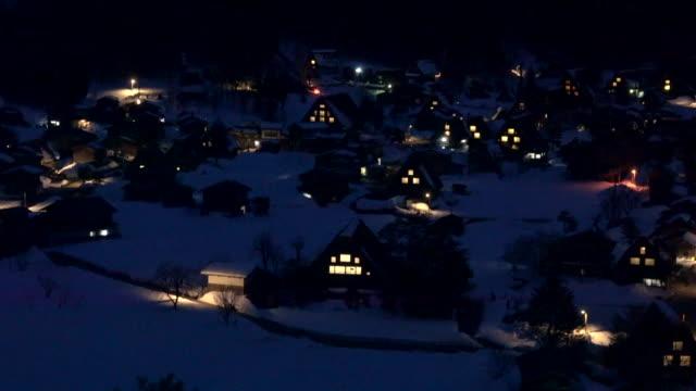 白川郷合掌造りヘリテージ ビレッジ - 村点の映像素材/bロール