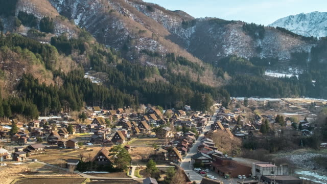 shirakawago ,日本 - 村点の映像素材/bロール