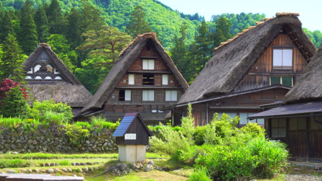 shirakawa-go - thatched roof stock videos & royalty-free footage
