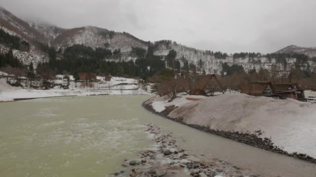 shirakawa-go village, gifu, japan - thatched roof stock videos & royalty-free footage