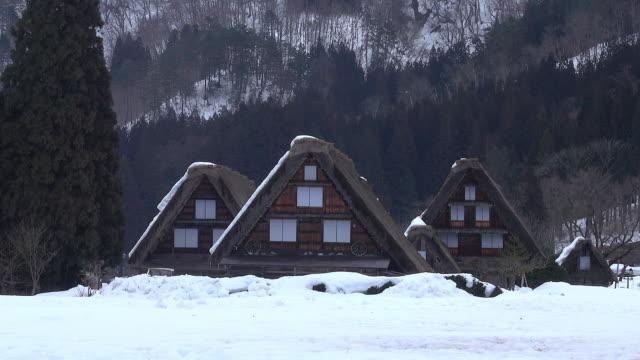 shirakawago village, japan - toyama prefecture stock videos and b-roll footage