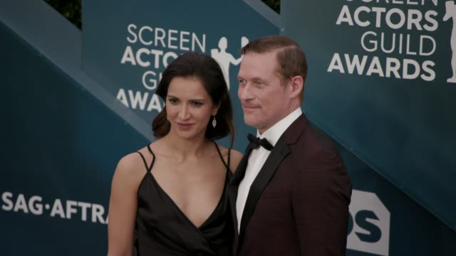 shireen jiwan and james tupper at the 26th annual screen actors guild awards arrivals at the shrine auditorium on january 19 2020 in los angeles... - shrine auditorium stock videos & royalty-free footage