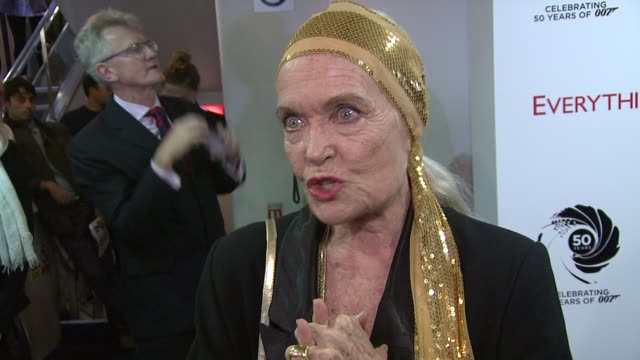 shirley eaton former bond girl on being painted gold at everything or nothing the untold story of 007 at odeon leicester square on october 01 2012 in... - bond girl fictional character stock videos & royalty-free footage
