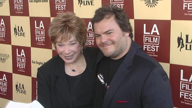 shirley maclaine and jack black at the the 2011 los angeles film festival presents the opening night world premiere of 'bernie' at los angeles ca. - bernie mac stock videos & royalty-free footage
