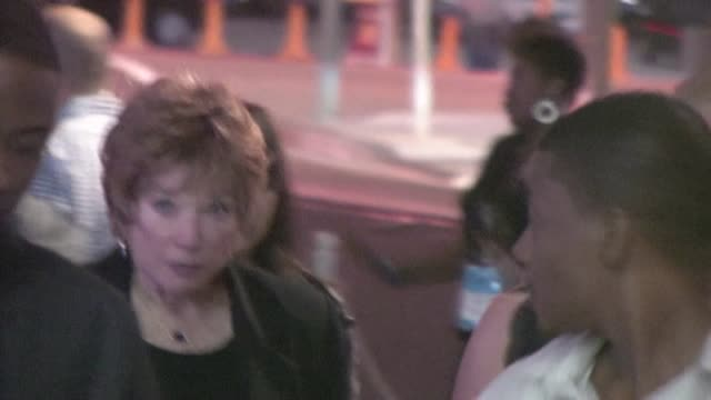 shirley maclaine arrives at bernie after party in los angeles - bernie mac stock videos & royalty-free footage