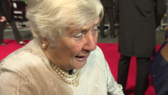 interview shirley williams on the legacy of her mother vera brittain's courage interest and passion for ww1 from young people today and the horror of... - odeon leicester square stock videos and b-roll footage