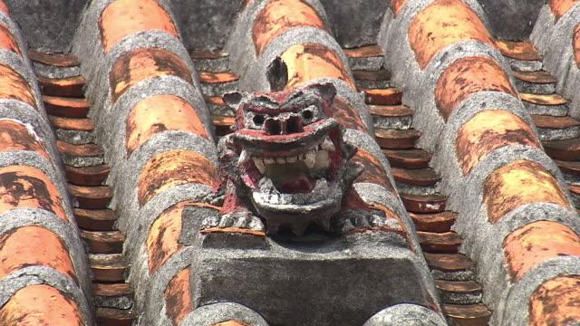 Shisa In Tonaki Island, Okinawa, Japan