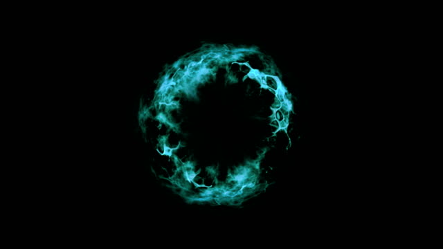 shockwave explosion turquoise+alpha - fireball stock videos & royalty-free footage