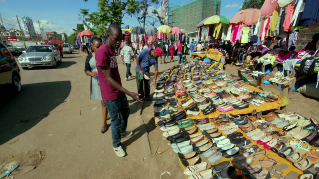Shoe & Clothing Stall At Ngong Road Street Market Nairobi  Kenya  Africa