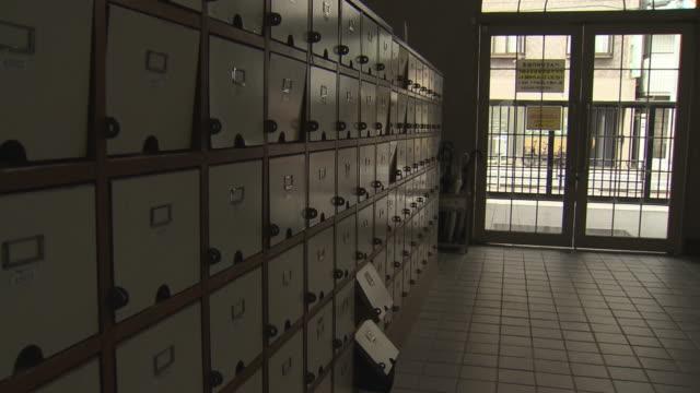 shoe locker and doorway at school, tokyo, japan - secondary school stock videos & royalty-free footage