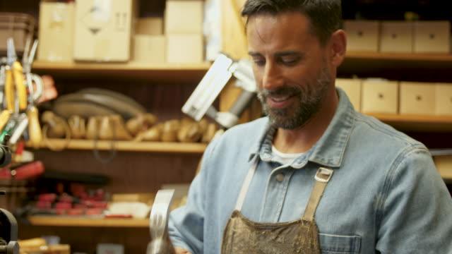 shoemaker - animal skin stock videos & royalty-free footage