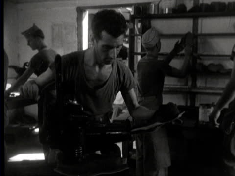 shoemakers at work - east java province stock videos & royalty-free footage