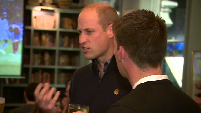 shoes interior shots prince william duke of cambridge holding pint of beer talking to former england footballer frank lampard as they watch england... - drinking stock videos & royalty-free footage