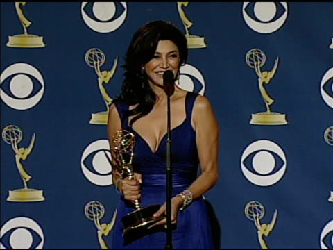 shohreh aghdashloo at the 61st annual primetime emmy awards - press room at los angeles ca. - annual primetime emmy awards stock-videos und b-roll-filmmaterial