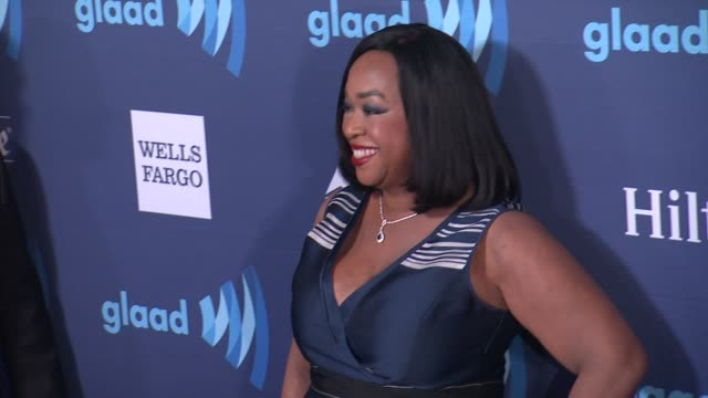 shonda rhimes at the 26th annual glaad media awards at the beverly hilton hotel on march 21 2015 in beverly hills california - the beverly hilton hotel stock videos & royalty-free footage