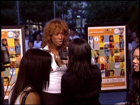 vídeos y material grabado en eventos de stock de shondella avery at the 'i heart huckabees' premiere at the grove in los angeles california on september 22 2004 - the grove los angeles