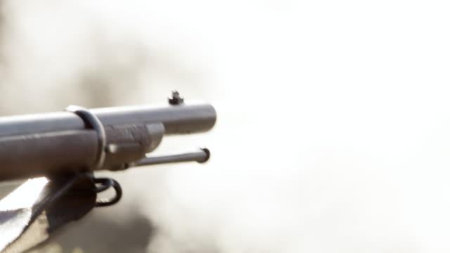 cu shooting form gun barrel / montana, united states - gun barrel stock videos & royalty-free footage